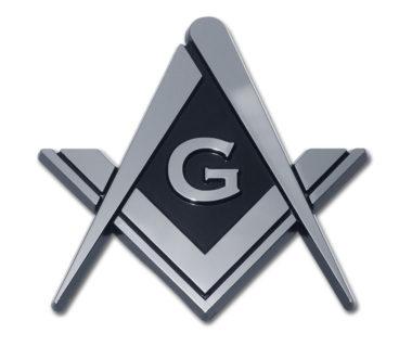 Masonic Chrome Emblem
