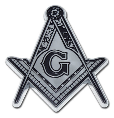 Masonic Detailed Chrome Emblem
