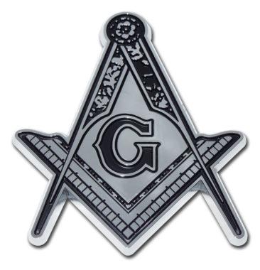 Masonic Detailed Chrome Emblem