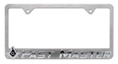 Masonic Past Master License Plate Frame image