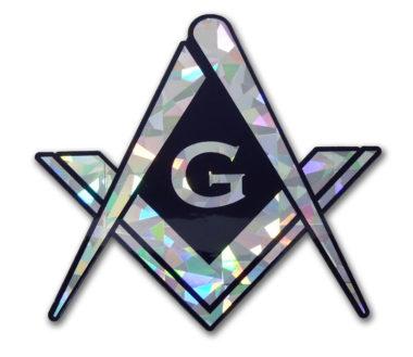 Masonic Reflective Decal image