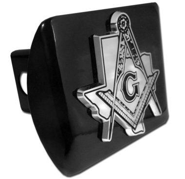 Masonic Texas Black Hitch Cover