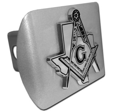 Masonic Texas Emblem on Brushed Hitch Cover image