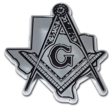 Masonic Texas Chrome Emblem image