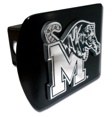 University of Memphis Emblem on Black Hitch Cover
