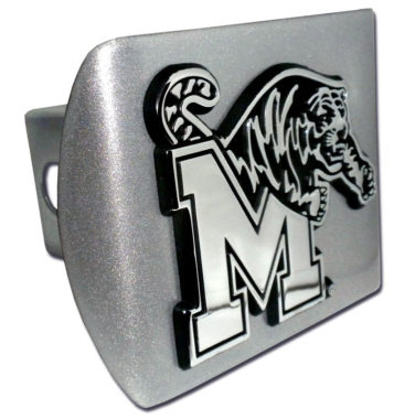 University of Memphis Emblem on Brushed Hitch Cover