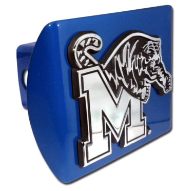 University of Memphis Emblem on Blue Hitch Cover