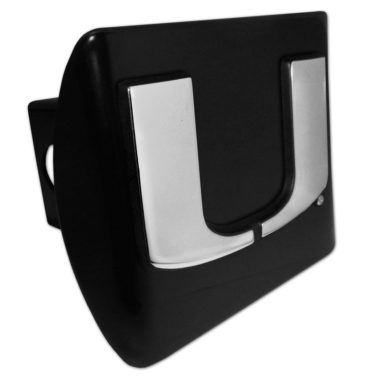 University of Miami Emblem on Black Hitch Cover