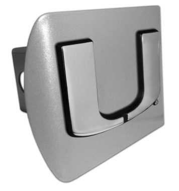 University of Miami Brushed Hitch Cover