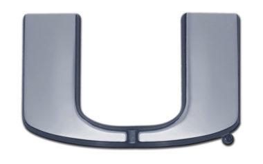University of Miami Chrome Emblem