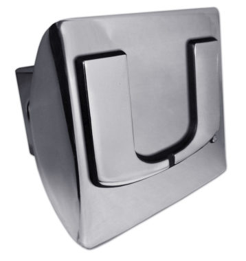 University of Miami Emblem on Chrome Hitch Cover