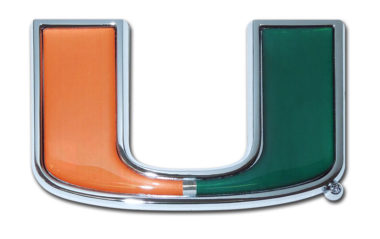 University of Miami Color Chrome Emblem