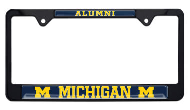 University of Michigan Alumni Black License Plate Frame