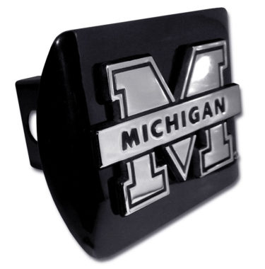 University of Michigan Banner Emblem on Black Hitch Cover