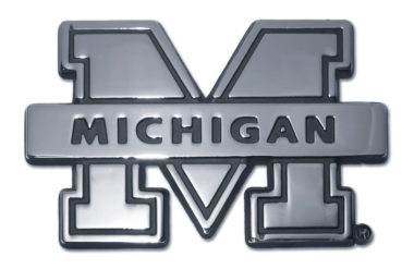 University of Michigan Banner Chrome Emblem
