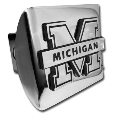 University of Michigan Banner Emblem on Chrome Hitch Cover