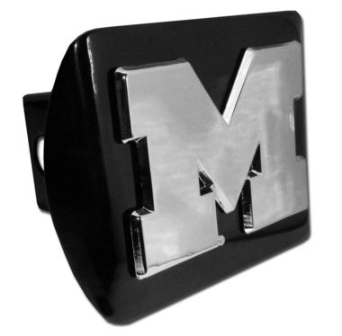 University of Michigan Emblem on Black Hitch Cover
