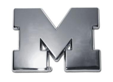 University of Michigan Chrome Emblem