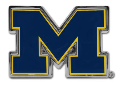 University of Michigan Navy Chrome Emblem