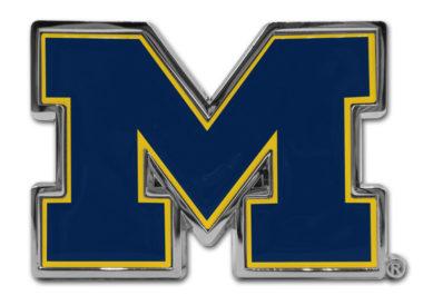 University of Michigan Navy Chrome Emblem