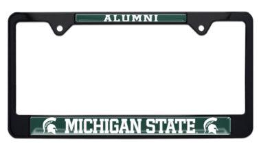 Michigan State Alumni Black License Plate Frame