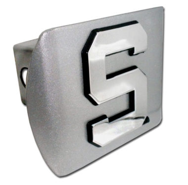 Michigan State S Emblem on Brushed Hitch Cover