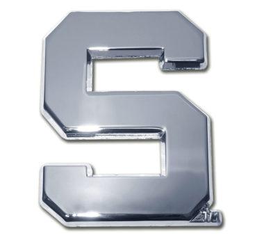 Michigan State S Chrome Emblem image