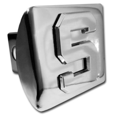 Michigan State S Emblem on Chrome Hitch Cover
