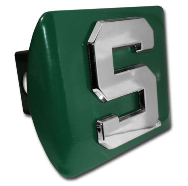 Michigan State S Emblem on Green Hitch Cover