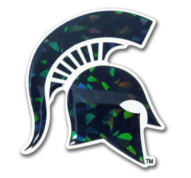 Michigan State Green 3D Reflective Decal image