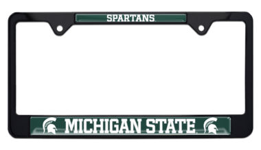Michigan State Spartans Black License Plate Frame