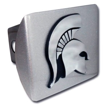 Michigan State Emblem on Brushed Hitch Cover