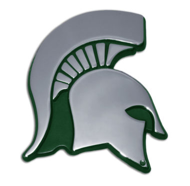 Michigan State Green Chrome Emblem