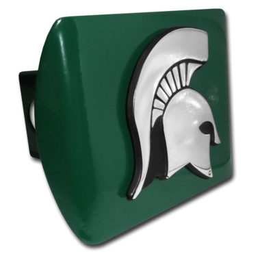 Michigan State Emblem on Green Hitch Cover