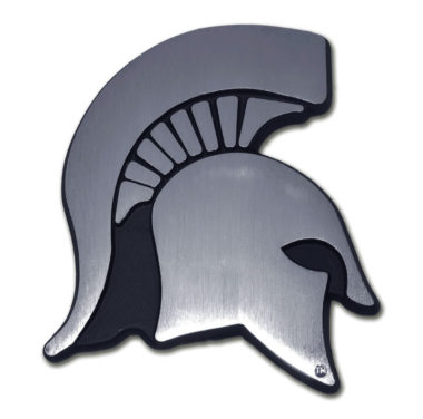 Michigan State Matte Chrome Emblem