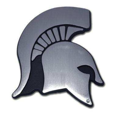 Michigan State Matte Chrome Emblem