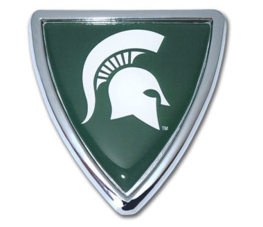 Michigan State Shield Chrome Emblem