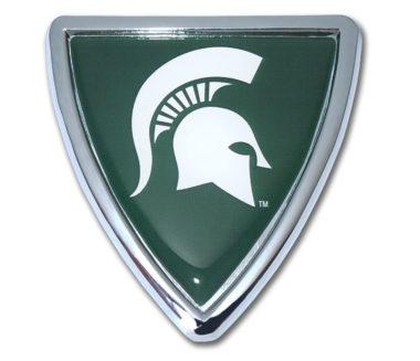 Michigan State Shield Chrome Emblem image