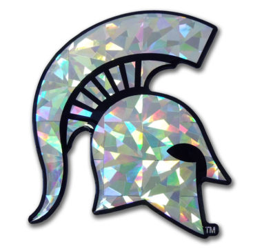 Michigan State Silver 3D Reflective Decal