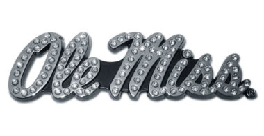 Ole Miss Crystal Chrome Emblem