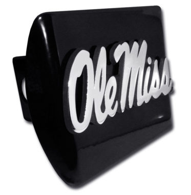 Ole Miss Emblem on Black Hitch Cover image