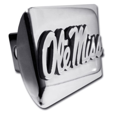 Ole Miss Emblem on Chrome Hitch Cover image