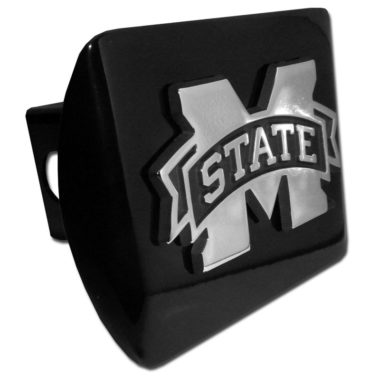 Mississippi State Emblem on Black Hitch Cover