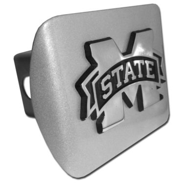 Mississippi State Emblem on Brushed Hitch Cover