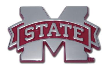 Mississippi State Maroon Chrome Emblem