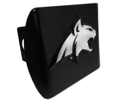 Montana State Bobcat Emblem on Black Hitch Cover