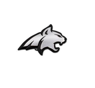 Montana State Bobcat Chrome Emblem
