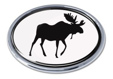 Moose White Chrome Emblem