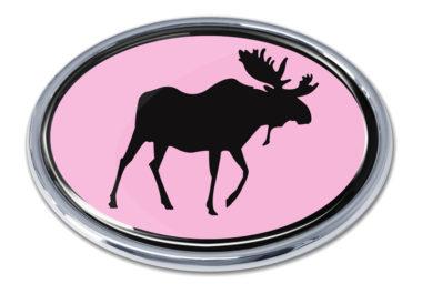 Moose Pink Chrome Emblem