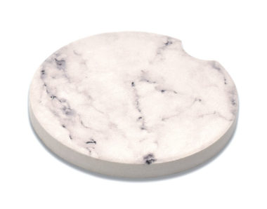 Marble Black & White Car Coaster - 2 Pack image